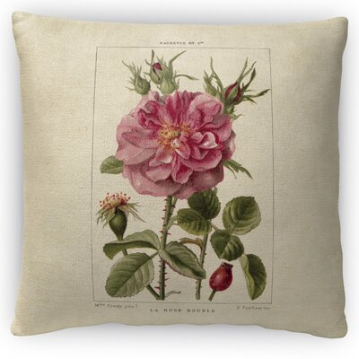 Rose Throw Pillow Size: 16 H x 16 W x 4 D