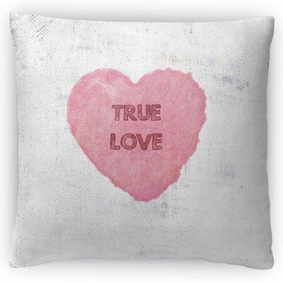 True Love Throw Pillow Size: 16 H x 16 W x 4 D