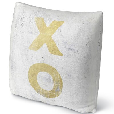 Xo Throw Pillow Size: 16 H x 16 W x 4 D