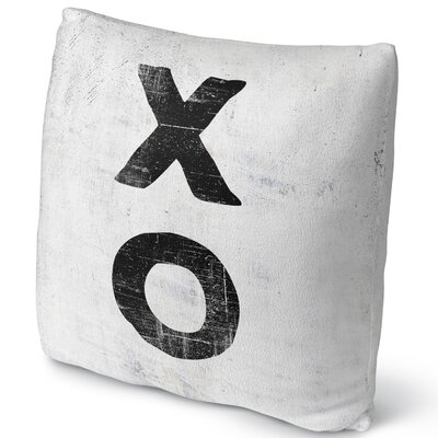Xo Throw Pillow Size: 16
