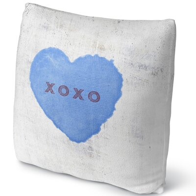 Xoxo Throw Pillow Size: 18