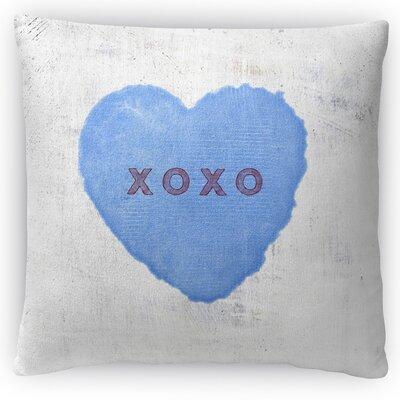 Xoxo Throw Pillow Size: 18 H x 18 W x 4 D