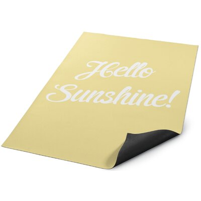 Hello Sunshine Doormat Rug Size: Square 8