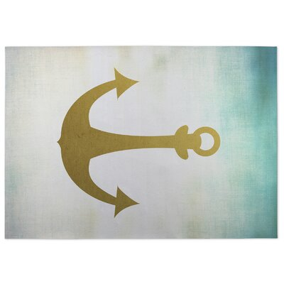 Anchor Doormat Mat Size: 4 x 5