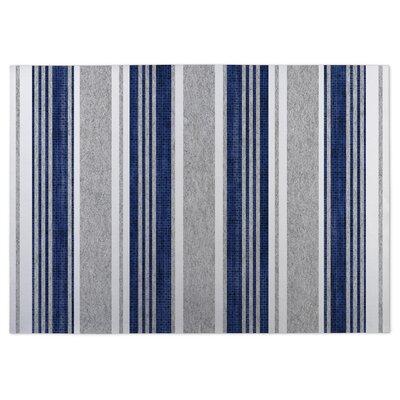 Sagamore Doormat Color: Blue, Rug Size: 5 x 7