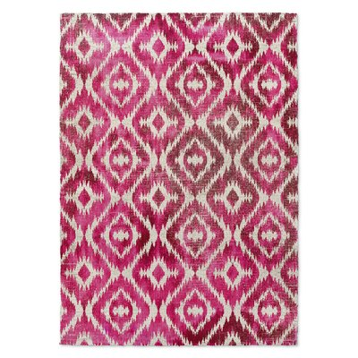 Laplant Pink Area Rug Rug Size: Rectangle 5 x 7