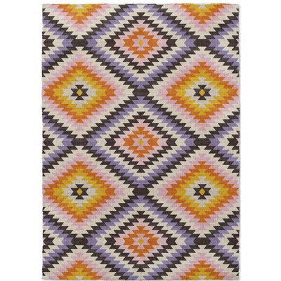 Sulien Purple/Yellow Area Rug Rug Size: 5 x 7