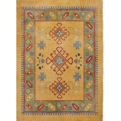 Yvonne Orange Area Rug Rug Size: 2 x 3