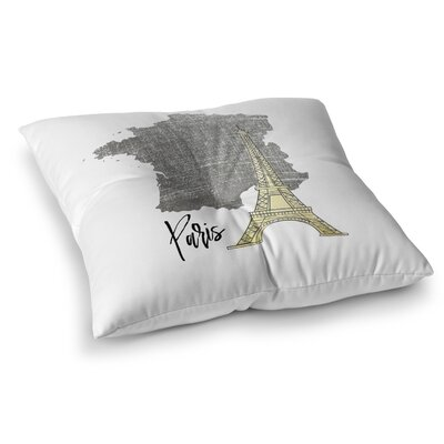Paris Floor Pillow Size: 23 H x 23 W