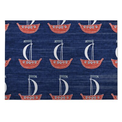 Hammond Red/Blue Indoor/Outdoor Area Rug Rug Size: Square 8