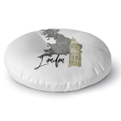 London2 Floor Pillow Size: 26 H x 26 W