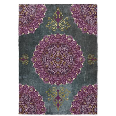 Ellis Green/Purple Indoor/Outdoor Area Rug Rug Size: 5 x 7