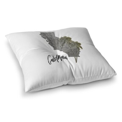 California Floor Pillow Size: 26 H x 26 W