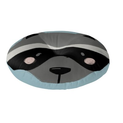 Raccoon Floor Pillow Size: 23 H x 23 W