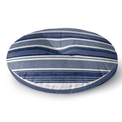 Chatham Floor Pillow Color: Blue/White, Size: 26 H x 26 W