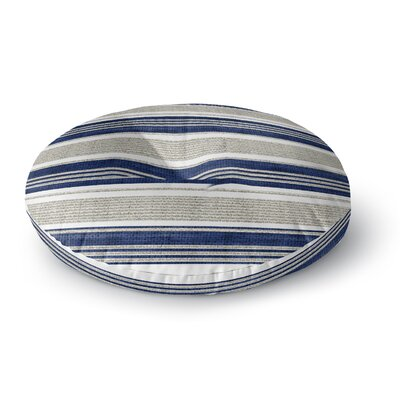 Fiecke Outdoor Throw Pillow Color: Blue/Gray, Size: 26 x 26