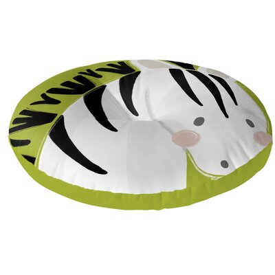 Zebra Floor Pillow Size: 26 H x 26 W