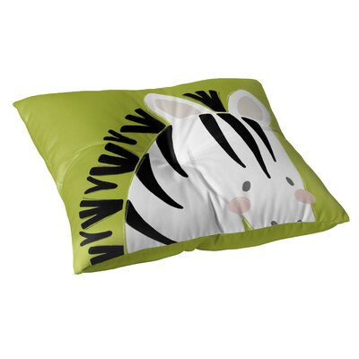 Zebra Floor Pillow Size: 23 H x 23 W