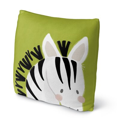 Zebra Floor Pillow Size: 23 H x 23 W