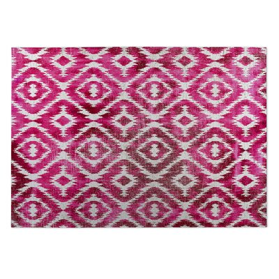 Delores Pink/Gray Indoor/Outdoor Area Rug Rug Size: Square 8