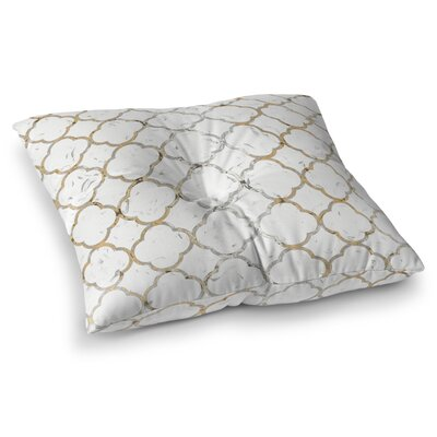 Ornate Grid Floor Pillow Size: 23 H x 23 W