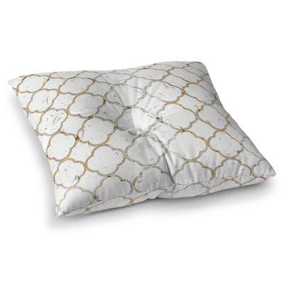 Ornate Grid Floor Pillow Size: 23 H x 23 W