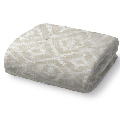 Christophe Blanket Size: 90 L x 90 W, Color: Ivory
