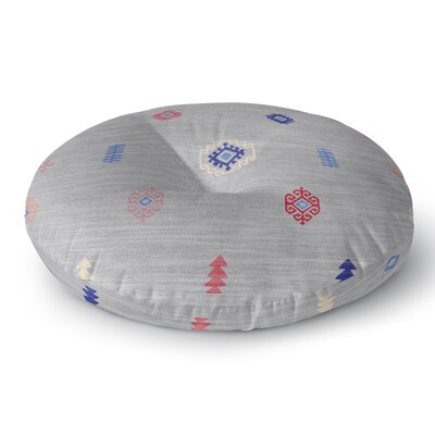 Floor Pillow Size: 26 H x 26 W, Color: Gray