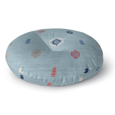 Floor Pillow Size: 26 H x 26 W, Color: Blue