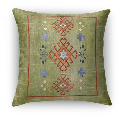 Yvonne Distressed Throw Pillow Size: 18