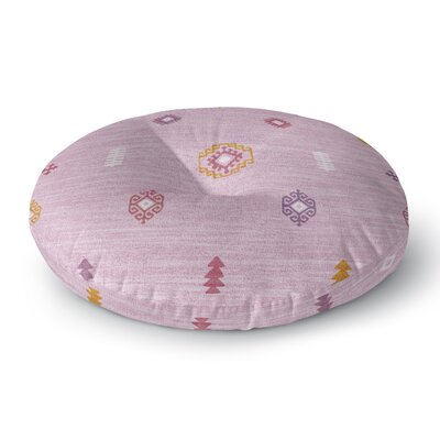 Floor Pillow Size: 26 H x 26 W, Color: Pink