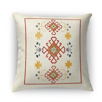 Yvonne Distressed Throw Pillow Size: 24