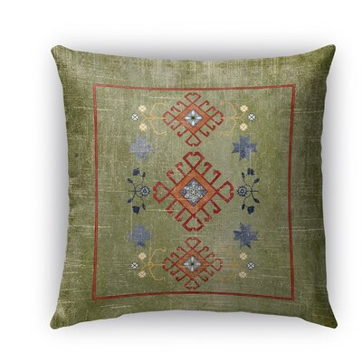 Yvonne Distressed Indoor/Outdoor Throw Pillow Size: 18 H x 18 W x 5 D, Color: Green
