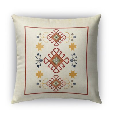 Yvonne Distressed Indoor/Outdoor Throw Pillow Size: 26 H x 26 W x 5 D, Color: Ivory