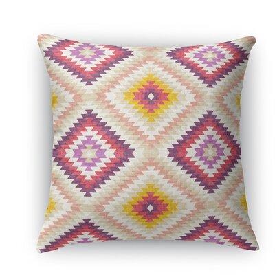 Sulien Indoor/Outdoor Throw Pillow Color: Beige, Size: 24 H x 24 W x 5 D