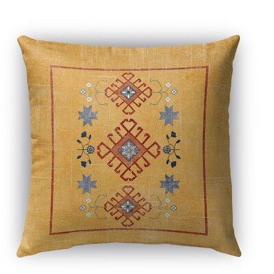 Yvonne Distressed Indoor/Outdoor Throw Pillow Size: 16 H x 16 W x 5 D, Color: Orange
