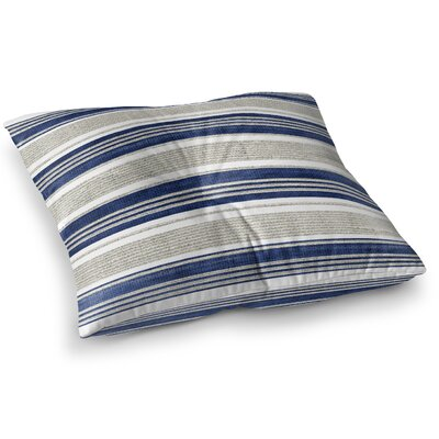 Fiecke Outdoor Throw Pillow Color: Blue/Gray, Size: 23 x 23