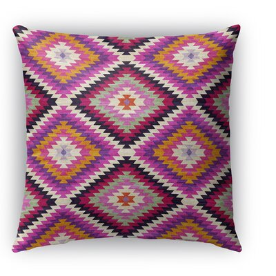 Sulien Indoor/Outdoor Throw Pillow Size: 26 H x 26 W x 5 D, Color: Purple/ Pink/ Orange