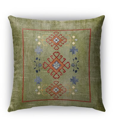 Yvonne Distressed Indoor/Outdoor Throw Pillow Size: 16 H x 16 W x 5 D, Color: Green
