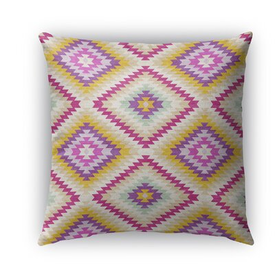 Sulien Indoor/Outdoor Throw Pillow Size: 18 H x 18 W x 5 D, Color: Ivory/ Pink/ Gold/ Purple