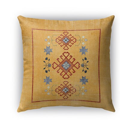 Yvonne Distressed Indoor/Outdoor Throw Pillow Size: 18 H x 18 W x 5 D, Color: Orange