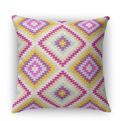 Sulien Indoor/Outdoor Throw Pillow Size: 26 H x 26 W x 5 D, Color: Ivory/ Pink/ Gold/ Purple