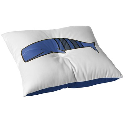 Ellicottville  Floor Pillow Size: 26 H x 26 W, Color: Blue/Gray