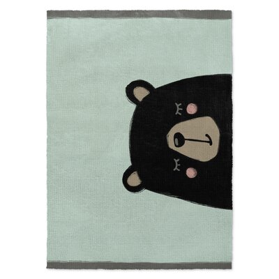 Bear Black/Green Area Rug Rug Size: Rectangle 5 x 7