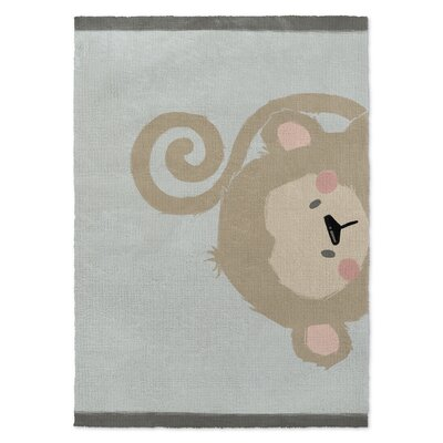 Monkey Brown/Green Area Rug Rug Size: 3' x 5'