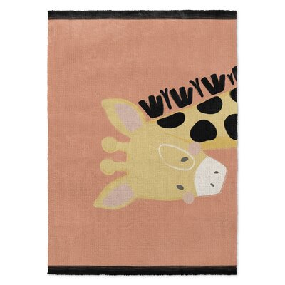 Roberta Black/Yellow/Orange Area Rug Rug Size: 3 x 5
