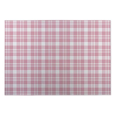 Gretchen Be Mine Plaid Indoor/Outdoor Doormat Rug Size: 5 x 7
