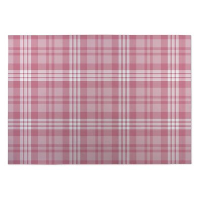 Glenna Be Mine Plaid Indoor/Outdoor Doormat Mat Size: Square 8