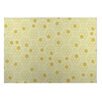 Merriam Bees Indoor/Outdoor Doormat Mat Size: Square 8