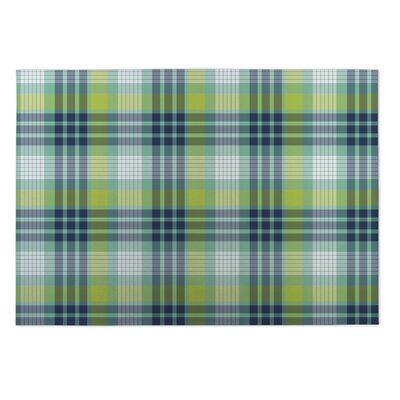 Godfrey Book Plaid Indoor/Outdoor Doormat Mat Size: Rectangle 4 x 5